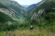 Wild and unspoilt terrain horse riding in the Pyrenees