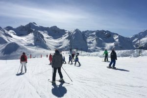 Skiing at Peyragudes in the French Pyrenees