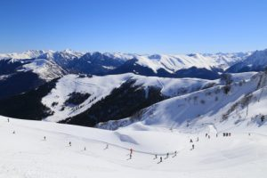 Superbagneres ski resort in the French Pyrenees