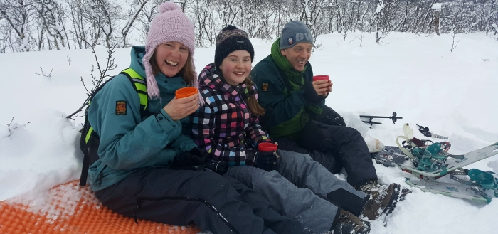 Family snowshoeing adventures in the Pyrenees