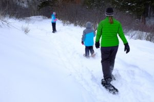 Snowshoe family adventures