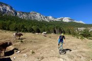 Beautiful mountain biking in Benasque valley