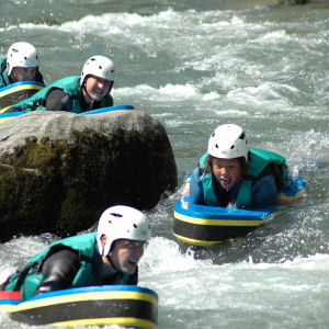 Riverboarding is an option on a family adventure holiday