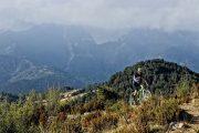 Breathtaking mountain views on enduro MTB trip