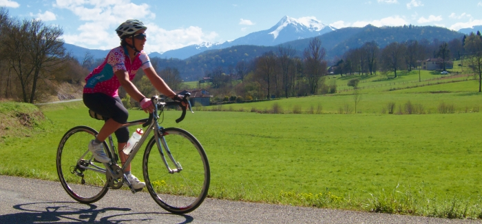 Cycling in the Pyrenees foothills