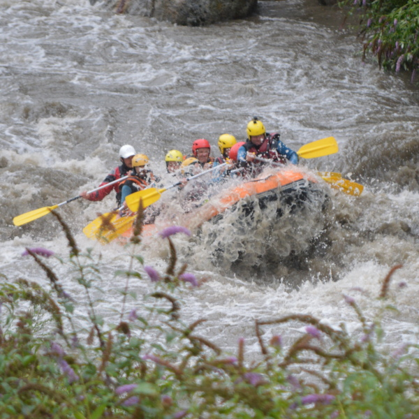 River rafting on a family multi activity adventure holiday with teens