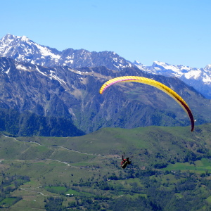 Paragliding on a family adventure holiday