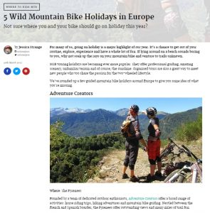 Total Women's Cycling MTB holiday feature
