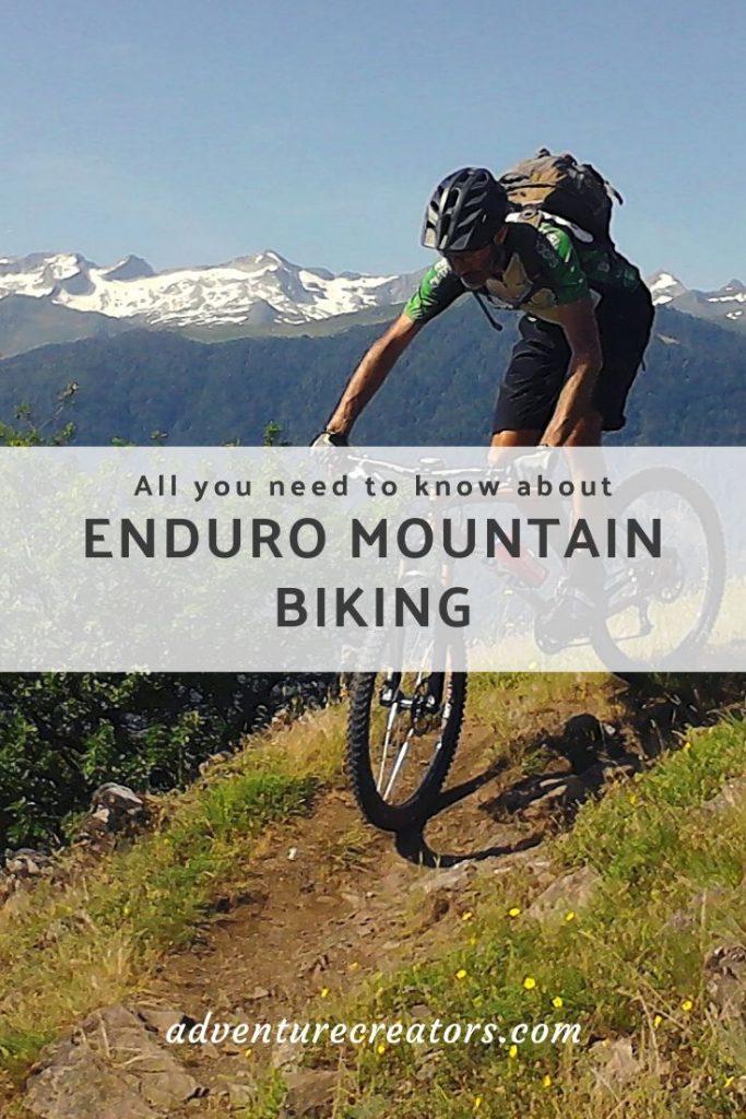 Enduro style mountain biking