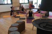 Yoga class on a 5 star wellness campsite