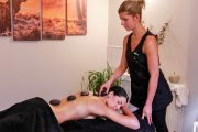 Hot stones spa therapy