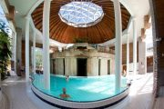 indoor pool at the thermal spa