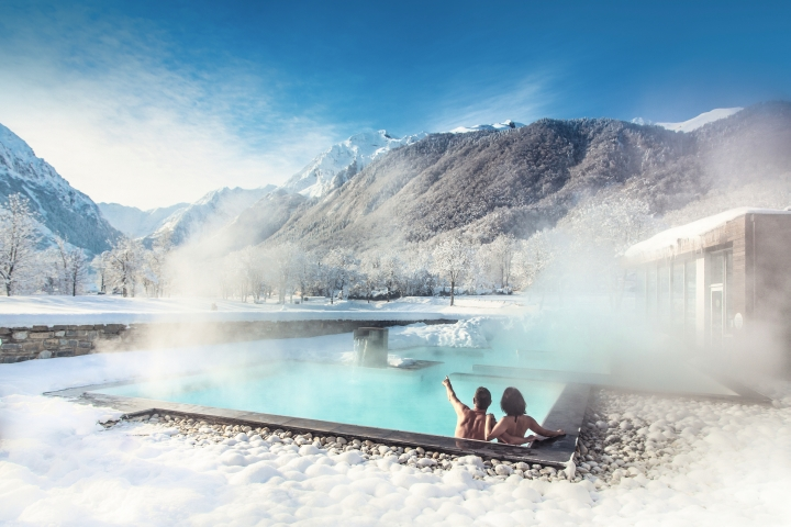 thermal spa in winter