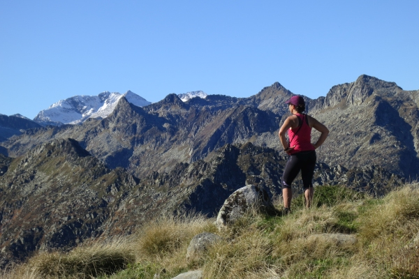 Mindful hiking in the Pyrenees mountains