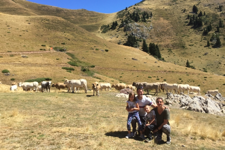 Family on a sustainable adventure holiday