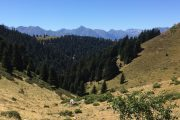 Pyrenees scenery on family adventure holiday