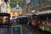 Medieval streets in Pyrenees market own