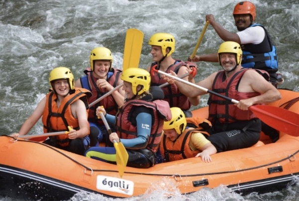 Pyrenees river rafting family fun