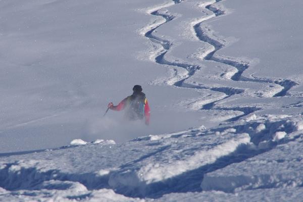 ski touring powder snow