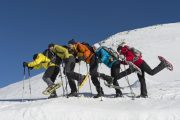 group snowshoeing in the Pyrenees